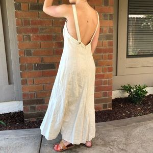 French Connection Linen Cream Jumper Maxi Dress